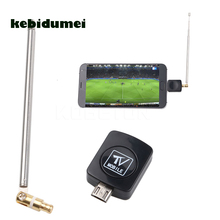 kebidumei Wholesale Mini USB DVB-T HD TV Tuner Digital Satellite Dongle Receiver+Antenna For Android for Phone Mobile TV Tuner(China)