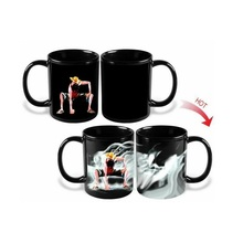 Promotion Magic Mugs One Piece Monkey D Luffy Mug Cup Ceramic Milk Coffee Tea Mugs Color Change Hot Cold Heat Sensitive Mug(China)