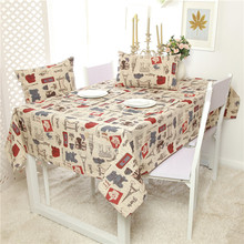 2016 New Europe Vintage Colorful Print Linen Table Cloth  High Quality Tablecloth Table Cover manteles para mesa Free Shipping