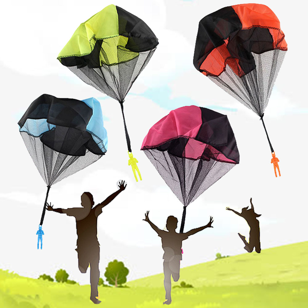 1pcs Hand Throwing kids Mini Play Parachute Toy Kids Outdoor Games Children Educational Toys Soldier Outdoor Sports