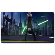 Star The City, Wars Game Playmat, 3D Ahsoka Fantasy Girl Jedi Lightsaber Sci Fi Sith, Board Games Table Playmat