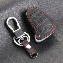 Leather Key Holder For Jeep Grand Cherokee Compass Patriot Dodge Journey Chrysler 300C Leather Wallet Keychain For Jeep Key Case(China)