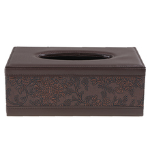 Universal Luxury European Style PU Leather Home Office Hotel Car Facial Tissue Box Case Holder serviette en papier Holder(China)