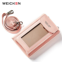 WEICHEN Multi-functional Wallet Purse For Women Brand Design Fashion Ladies Handbags Cell Phone Pocket Crossbody Shoulder Bags(China)