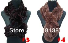 Fashion Women's Soft Long Rex Rabbit Fur Scarf Shawl AccessorIes , Free Shipping