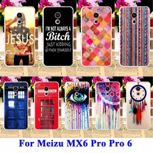 DreamCatcher Telephone Booth Letters Phone Cases For Meizu MX6 Pro Covers Meilan Pro 6 Pro 5 mini 5.2 Housing Bags Skin Shell Ho