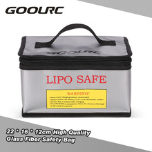 High Quality GoolRC 22 * 16 * 12cm Glass Fiber RC LiPo Battery Safety Bag Safe Guard Charge Sack(China)