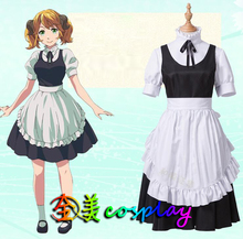 COSPlAY Japanese anime Different world canteen Aleita Maid outfit (5pcs) Cos Clothes(China)