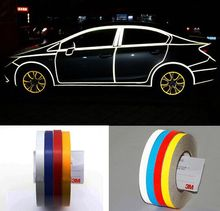 1.0CM x 45Meter DIY Car Styling 3M Reflective Safety Tape Car Warning Stickers Glow in Dark Marking Tape Night Luminous Material(China)