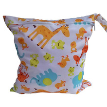 New Waterproof Zip Wet Dry Bag for Baby Infant Cloth Diaper Nappy Pouch Reusable(China)