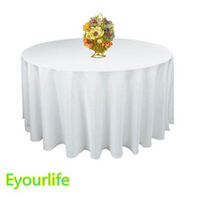 "90""/228cm Round Satin Tablecloth Table Cover Table Cloth Oilproof Wedding Party Restaurant Banquet Home Black White"