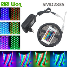 RIRi Won 5m  RGB LED Strip light White/Bule/Yellow/Red/Green RGB 3528 LED Ribbon light tape diode 54leds/m with 12V 2A full set