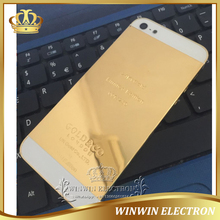 Replacement parts Middle Frame Back Cover for iphone 5 24k Gold Housing Battery Door with Card tray+Buttons+Tools Free Shipping