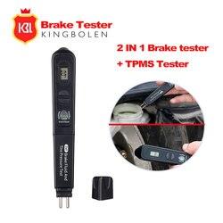 Жидкостный тестер тормозной жидкости ручка с 5 светодиодный тестер давления в шинах 2 в 1 диагностический инструмент с прай инструмент Подар...