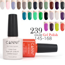 Best Nail Art CANNI Gel Nail Varnish 30917 Matte French Tip DIY 240 Color 145-168 Metal Mirror Bling Soak off UV Nail Gel Polish(China)