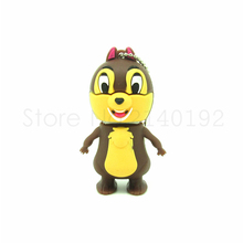 cute Chipmunks Squirrel usb flash drive disk memoria stick pendrive Pen drive personalizado 4gb 8gb 16gb 32gb mini cartoon gift