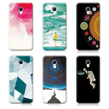 Couple Phone Case Cover Meizu M5 Mini 5.2 inch, 14 Patterns Universe Planet Astronauts Design Coque - Colorful Electronic Equipment Trade Company store