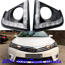 2014~2016 Corolla daytime light,Free ship!0LED,Corolla fog light,2ps/set+wire of harness,camry