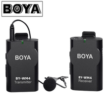 BOYA BY-WM4 Wireless Lavalier Microphone system for IOS Smartphone Tablet DSLR Camera Camcorder Audio Recorder PC Audio/Video