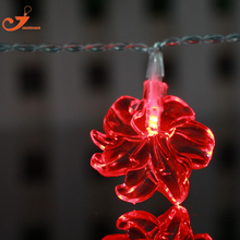 Lily lighting lirio red LED flower string lights party wedding lamp garden home Derotaion lilium Brownie Decorative holiday(China)