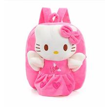 Wholesale and Retail Hello Kitty Toddler Kids Children Boy Girl Cartoon Backpack Schoolbag Shoulder Bag Plush Toy Bag(China)