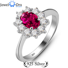 Genuine 925 Best Jewelry Gifts For Mother Cushion Cut Engagement Sterling Silver Ring (JewelOra Ri100912)