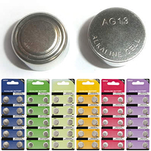 10Pcs/Set AG1 - AG13 1.5V Alkaline Button Coin Cells Watch Battery Batteries 10 Types AG13 By Default