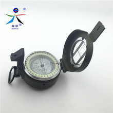 2017 High quality precision multi-function field of zinc alloy metal Compasses Outdoor Compass With Noctilucent Display(China)