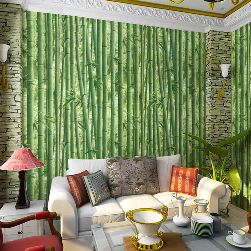 Photo Wallpaper Papel De Parede Papel Pintado Paysota Bamboo Leaf Wallpaper Living Room Bedroom Sofa Background Wall Paper <br>