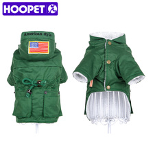 HOOPET Dog windbreaker clothes pet uniform coat warm cotton-padded style clothes autumn Winter(China)