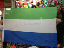Free shipping 4ft x 6ft Hanging Flag Polyester Sierra Leone National Flag Banner Outdoor Indoor 120x180cm(China)