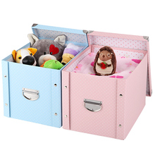 Paper Storage Box In Blue Pink Cute Cartoon Foldable Designs For Kids Children Toys Clothing Sundries Books Magazine Storage