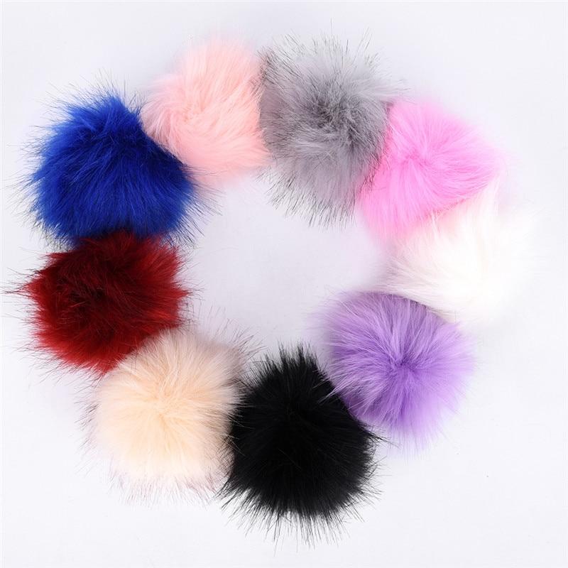 Faux Rabbit Fur Ball Fur Pom Cute Keychains Pom Llaveros Portachiavi Fluffy Keychain Porte Clef Porte Clef Pompom De 10CM