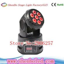Led Moving Head Wash 7x12w  Mini Music Sound Light Stage Christmas Party 4 in1 RGBW DMX512 Beam moving light
