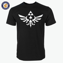 New 2017 quality cotton The Legend Of Zelda Triumphant Triforce print O neck men TEES casual Game men's T shirts(China)