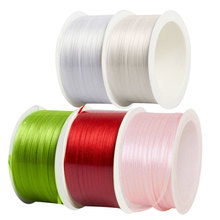 Colorful Satin Diy Craft Roll Ribbon Material For House Decoration Accessories Holiday Party Decorative Ribbon Rope(China)