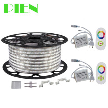 220V 110V LED Strip 5050 50m 100m IP67 Waterproof RGB Warm white Rope lighting for outdoor + RF Remote controller by DHL