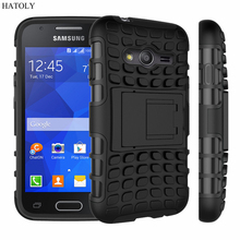 For Samsung Galaxy Ace 4 Neo Case G313 G318 Heavy Duty Armor Shockproof Hard Rubber Phone Cover for Samsung Ace 4 NXT Trend 2 *<