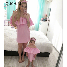 Family Matching Outfits Fashion Family Set Chiffon Dress Mother Daughter Dress Mom and Daughter Dresses Clothes Family Clothing