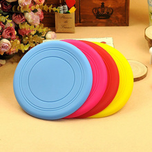 1Pcs Dog Silicone Frisbee Frisbee Toy Dog training supplies Flying Discs Resistant to bite can be folded pet supplies 7z-ca079