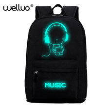 Harajuku Style Backpack Night light cool backpack Canvas Backpacks School Bags For Teenager Girls boys Book Bag Rucksack XA959B