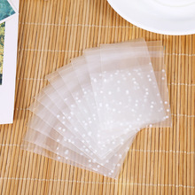 100pcs/pack 2size White Dots Transparent Frosted Plastic Wedding Cookie Candy Bag Christmas Birthday Party Wedding Gift Bag