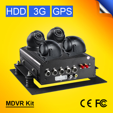 Gision OSD Menu Linux System 3G GPS Vehicle Car Mobile Dvr With CMSV6 Free Remote Real Time Moniting CCTV Car Camera  Mdvr Kits