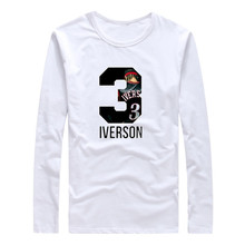 2017 Autumn Winter Philadelphia Legend T-Shirt Long Sleeve Tees Allen Iverson T SHIRT Men's City Hero The Answer W1101139