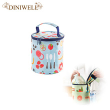 DINIWELL Fashion Portable Insulated Canvas lunch Bag Thermal Food Picnic Lunch Bags for Women kids Men Cooler Lunch Box Bag Tote