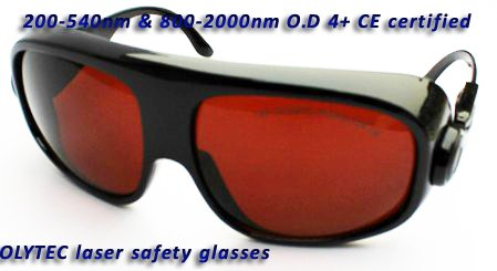 Laser safety eyewear200-540nm &amp; 800-2000nm O.D 4+  CE certified, bigger lens and frame<br>