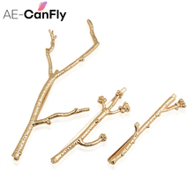 AE-CAFNFLY 3Pcs/Set CHIC Runway Tree Branch Hairpins Fascinator Bobby Pins Hair Accessories 2H3011(China)