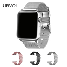URVOI milanese band apple watch Series 1 2 link bracelet strap iwatch stainless steel buckle wrist adapters 38 42mm - SZ Store store