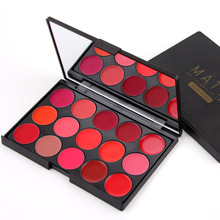 MISS ROSE 15 Colors Professional Moisturizer Lipstick Palette Beauty Lip Make up Long Lasting Lip Gloss Tint Cosmetic Maquiagem(China)