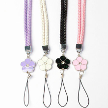 Cute Flower Colorful Mobile Phone Lanyard Phone Straps Neck Hanging Rope Card USB Holder Chain Keychain Charm Cords